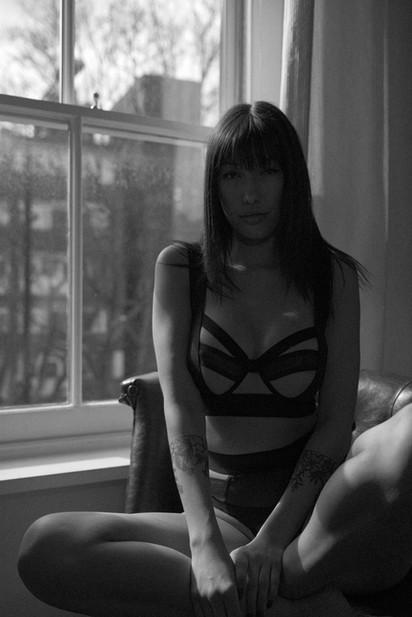 model london lingerie black bnw b&w grain film dramatic sexy