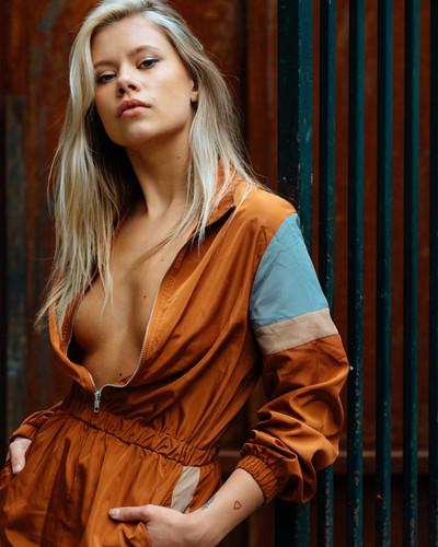 Women jumpsuit orange Fashion dramatic london