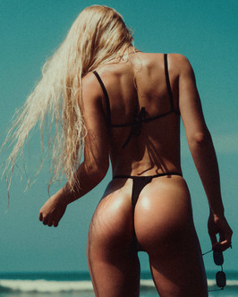 Black bikini swimwear sexy butt ass beach bali model film