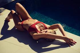 bali swimwear red wanderlust bali swiming pool model sexy