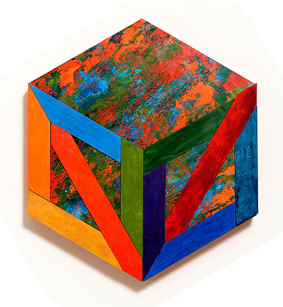 Denise DeLong Painting Hexagon twelve