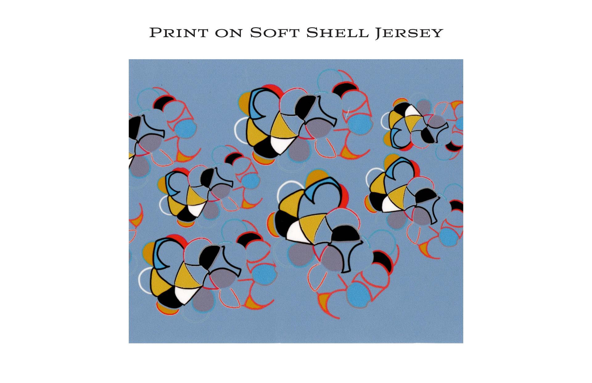 Printed Fabric Soft Shell Jersey