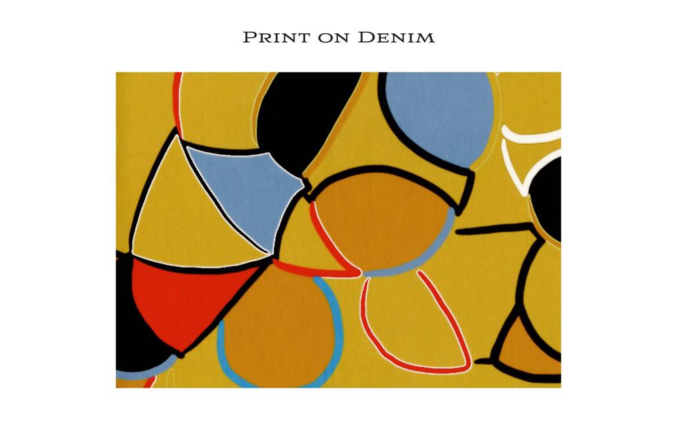 Printed Fabric Denim