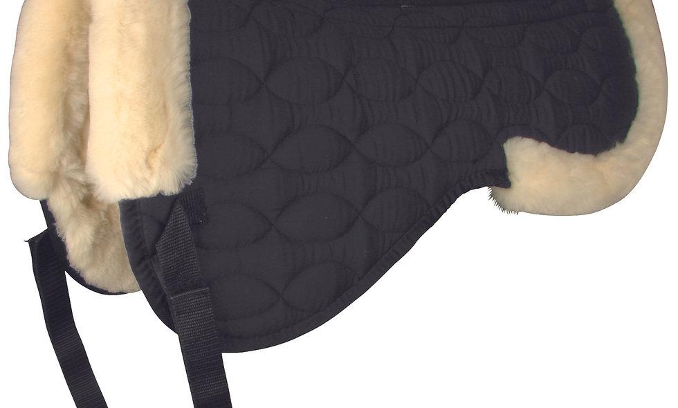 Half Saddle Pad w/ Synthetic Lambskin