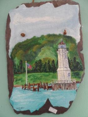 Light House on Drift Wood
