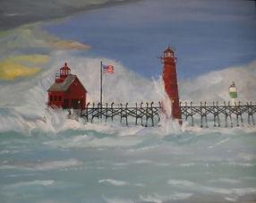 Light House Painting Joseph Dell