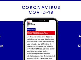 COVID-19 : l'attestation désormais disponible en version numérique