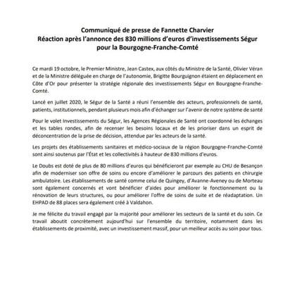 INVESTISSEMENTS SÉGUR EN RÉGION_ 830 millions d'€ pour améliorer l'offre de soins