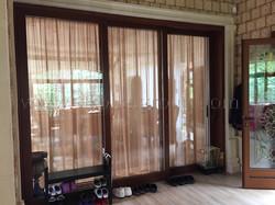 Деревянная подъемно-раздвижная дверь
