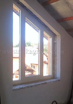 Трапециевидное алюминиевое окно
