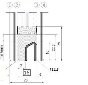 Стеклопакет для структурного остекления