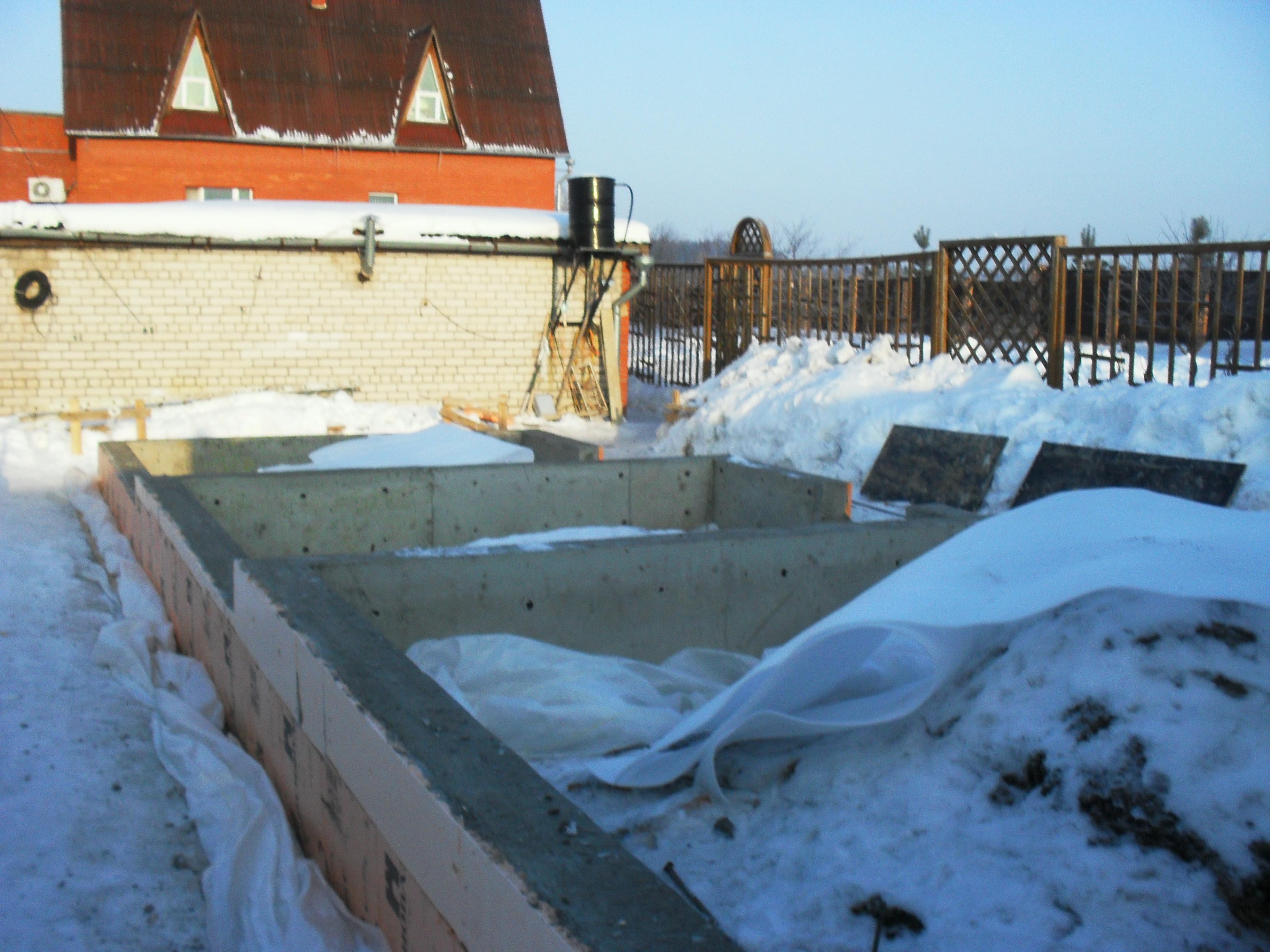 Фундамент под зимний сад - теплица