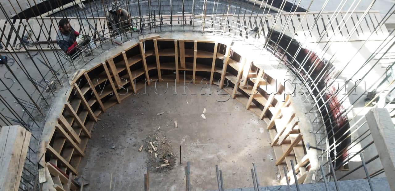 Монолитное строительство радиусной формы