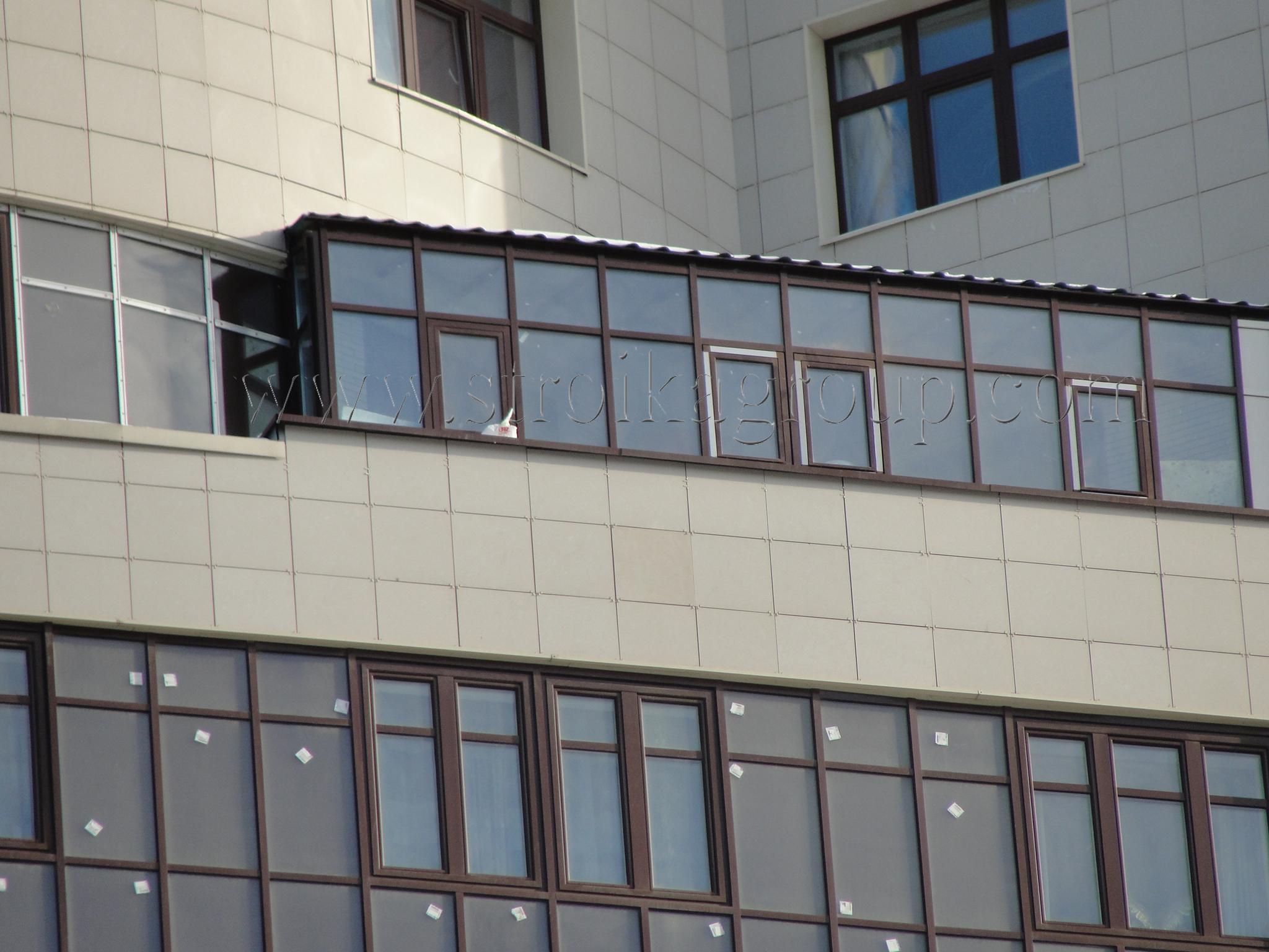 """Остекление балкона-""""зимний сад"""""""