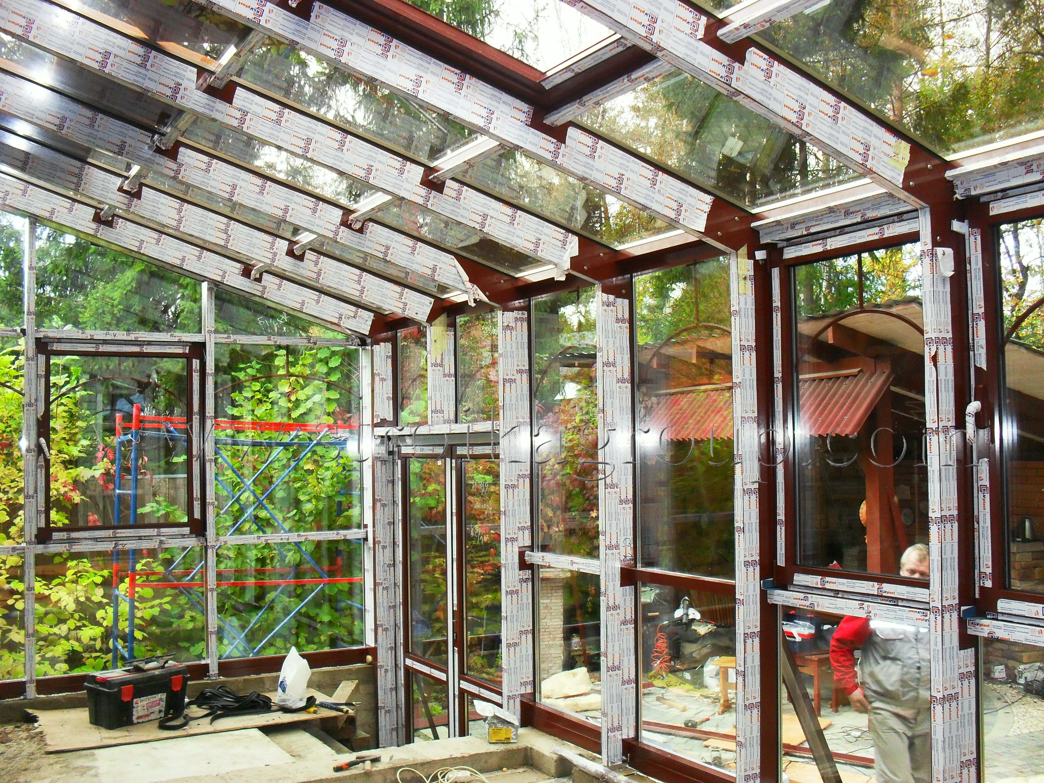 Алюминиевый каркас зимнего сада