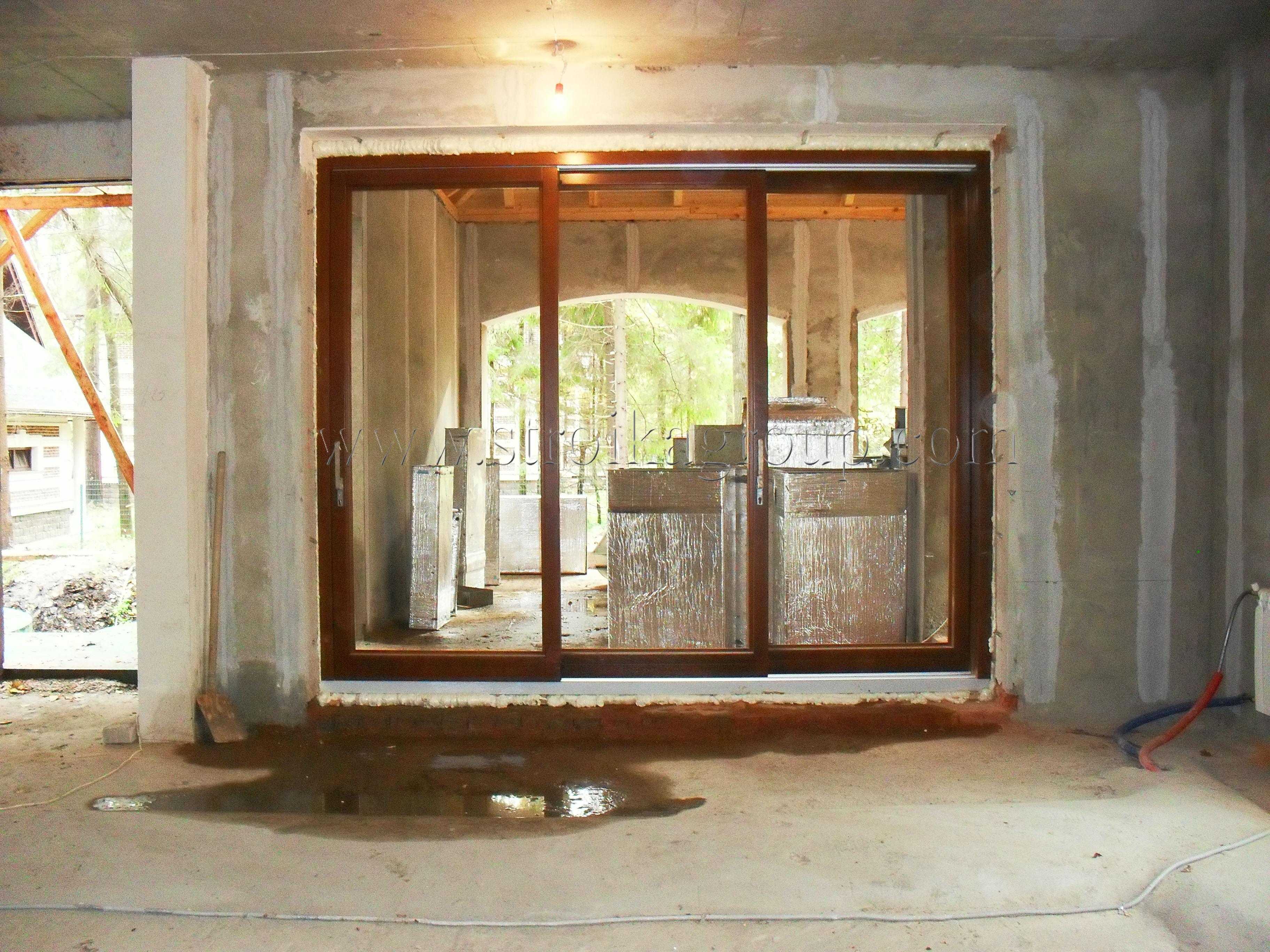 Дверь подъемно-раздвижная деревянная