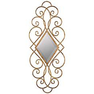 "Sisbee Aged Gold 15 3/4""x39"" Decorative Wall Mirror"