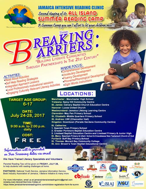 All Island Summer Reading Camp 2017 Flyer