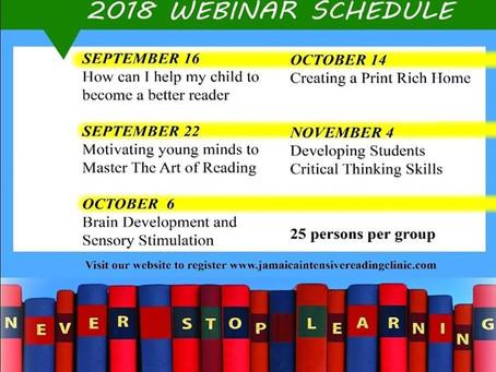 Jamaica Intensive Reading Clinic Webinar, 2018
