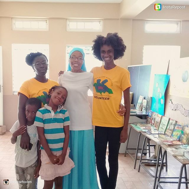 Our happy volunteers and campers paused for  a quick snap at our centre in Downtown, Kingston
