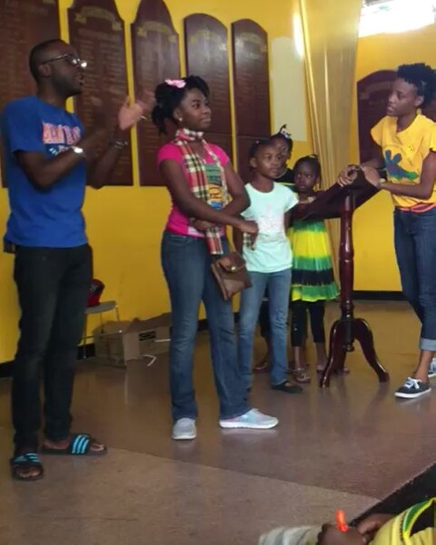 Can you tell that they were having fun_  We decided to incorporate arts in our literacy programme us