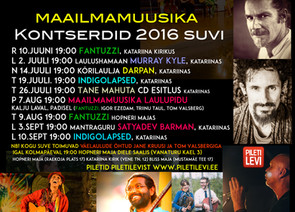 Maailmamuusika kontserdid 2016 suvi