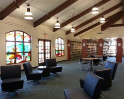 San Clemente Library Stained Glass Windo