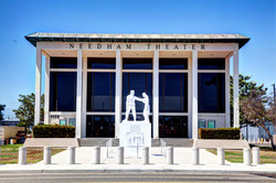 Needham Theater, Front Statue