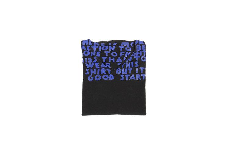 Maison Martin Margiela SS07 Black/Purple AIDS T-Shirt
