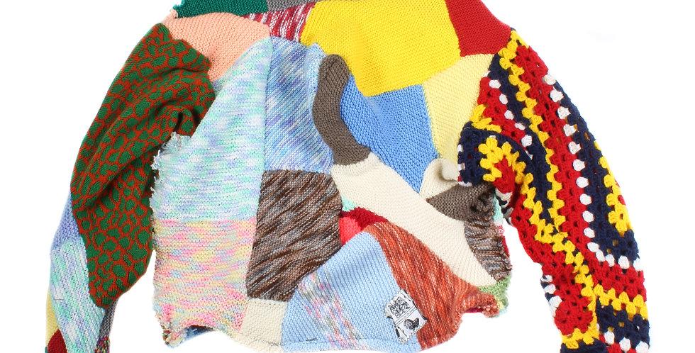 Iordanes Spyridon Gogos Patchwork Knitted Sweater