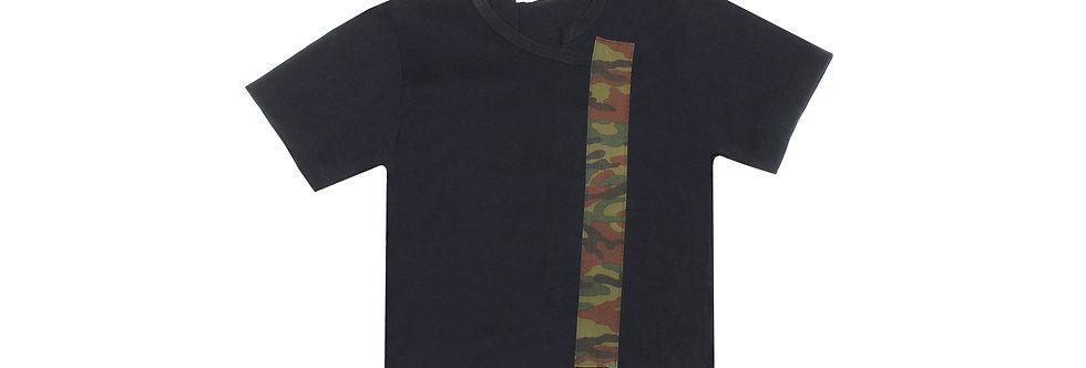 COMME des GARÇONS SS01 Camo Strip Asymmetrical T-Shirt