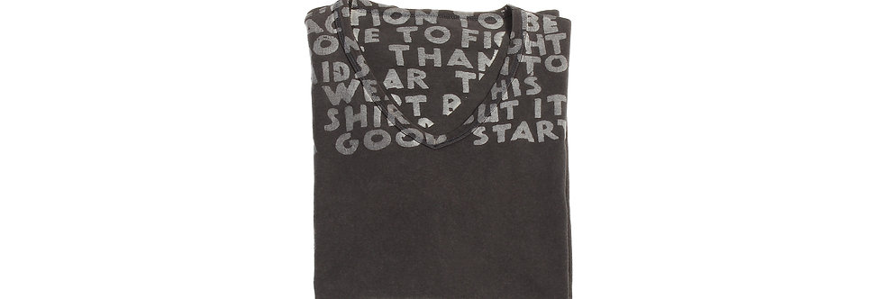 Maison Martin Margiela AW04 Black/Grey AIDS T-Shirt