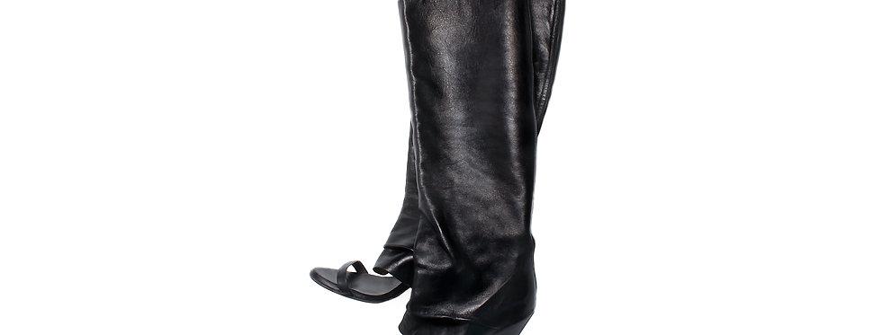Maison Martin Margiela SS13 Knee-High Open-Toe Boots