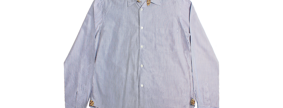 COMME des GARÇONS HOMME SS10 Pinstripe Paisley Shirt