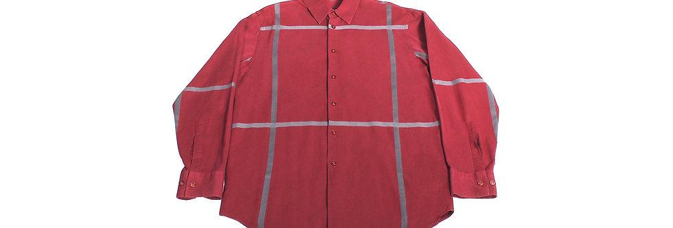 Kenzo Homme Burgundy Stripe Shirt