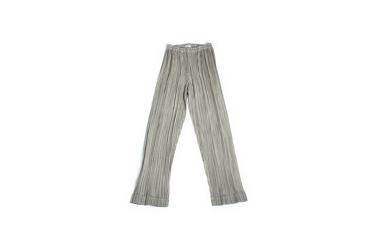 Issey Miyake SS1997 Greyscale Rope Pleated Pants