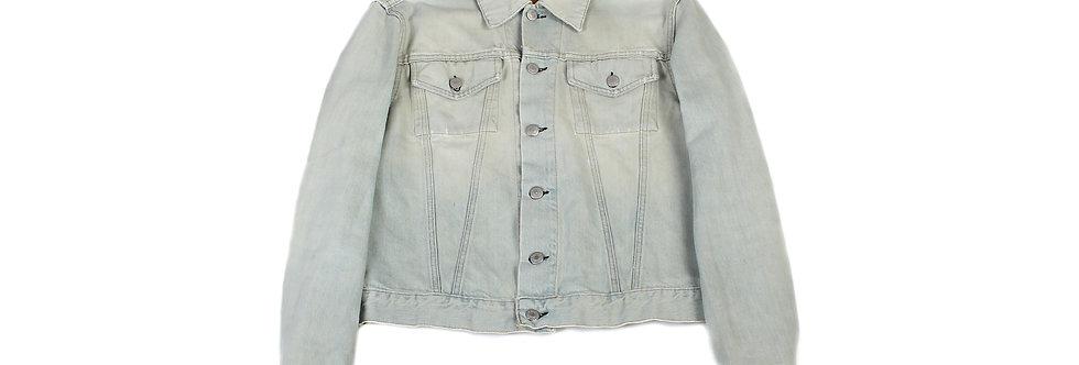 Helmut Lang SS98 Distressed Acid Wash Denim Jacket