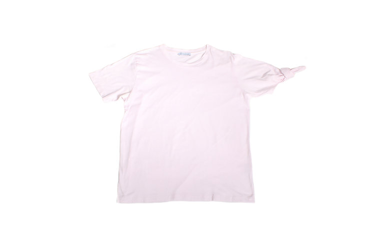 JW Anderson AW16 Pink Pastel Knot Sleeve T-Shirt