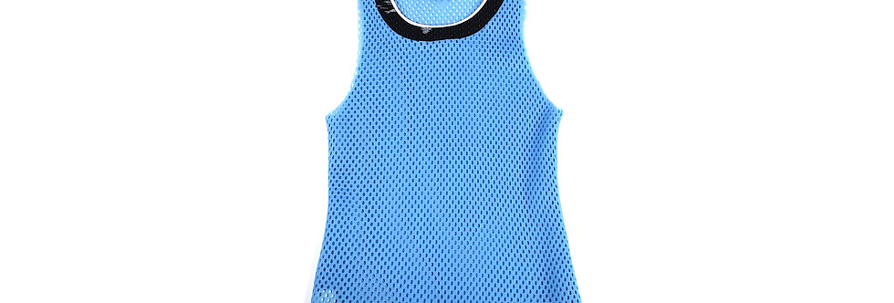 Raf Simons SS15 Blue Perforated Singlet