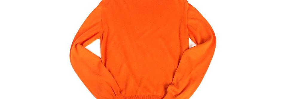 Helmut Lang AW99 Safety Orange Knit Sweater