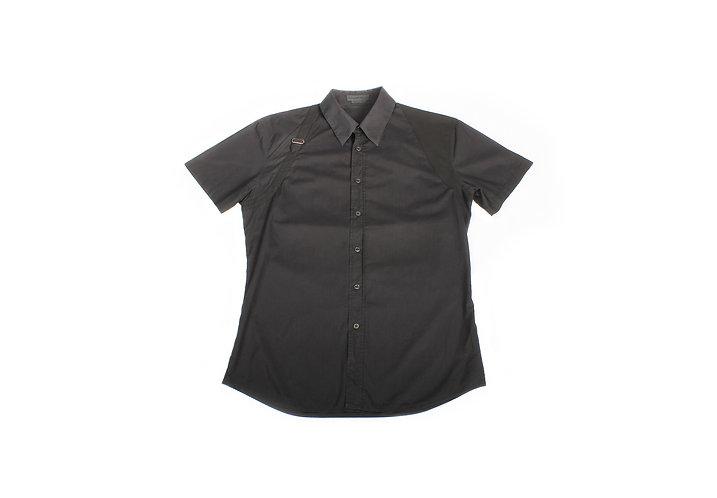 Alexander McQueen SS09 Bondage Black Short Sleeve Shirt