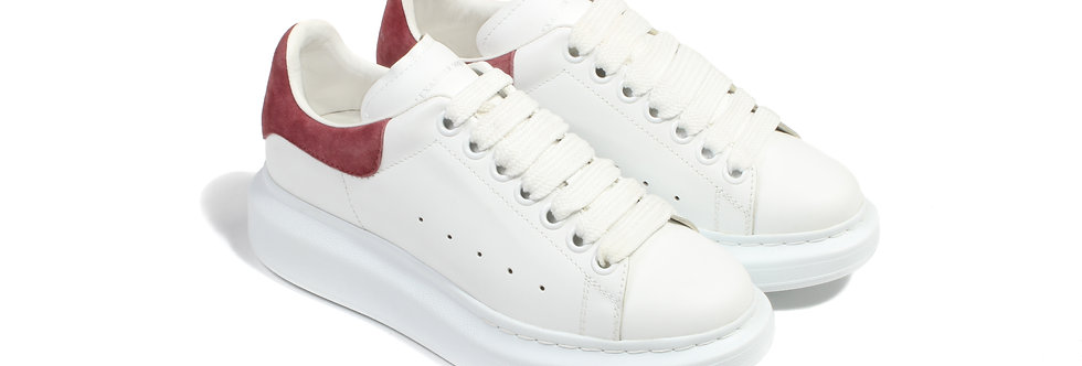 Alexander McQueen Oversized White/Rose Women's Sneakers