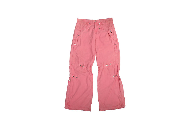 Dolce & Gabbana SS04 Pink Tactical Low Rise Bondage Pants