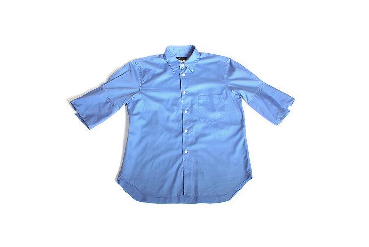 COMME des GARÇONS HOMME PLUS SS08 Cobalt Blue Short Sleeve Shirt