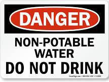 "Non-Potable Water 10""X14"" Vinyl Sticker"