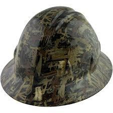 Oilfield Camo Full Brim Hard Hat