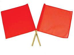 "Red Marker Flag W/18"" Wood Dowel"