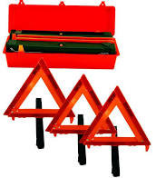 Highway Reflector Triangle Set