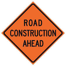 """Safety Sign Road Const. 36""""X 36"""""""
