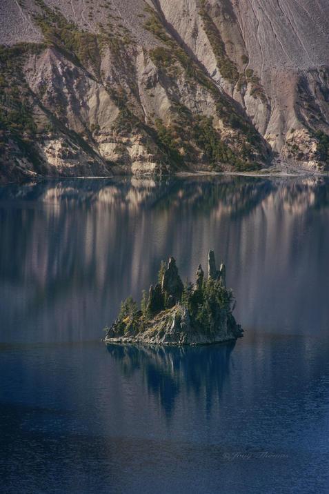 Phantom ship, Crater Lake, OR